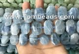 CNG7904 13*18mm - 15*25mm faceted freeform aquamarine beads