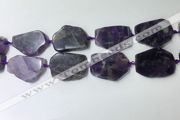 CNG7975 25*30mm - 35*45mm freeform amethyst slab beads