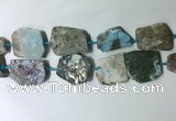 CNG7981 25*30mm - 35*45mm freeform larimar slab beads