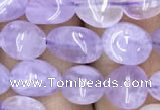 CNG8002 15.5 inches 6*8mm nuggets light lavender amethyst beads