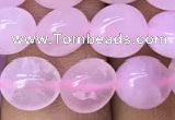 CNG8033 15.5 inches 8*10mm nuggets rose quartz beads wholesale