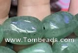 CNG8064 8*10mm - 10*14mmm nuggets green strawberry quartz beads