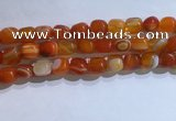 CNG8188 15.5 inches 10*14mm nuggets striped agate beads wholesale