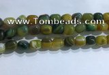 CNG8193 15.5 inches 10*14mm nuggets striped agate beads wholesale