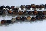 CNG8197 15.5 inches 10*14mm nuggets striped agate beads wholesale