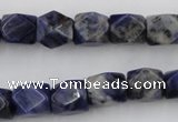 CNG825 15.5 inches 9*12mm faceted nuggets sodalite gemstone beads