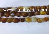 CNG8266 15.5 inches 13*18mm nuggets striped agate beads wholesale