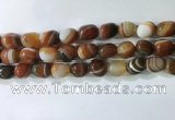 CNG8278 15.5 inches 13*18mm nuggets striped agate beads wholesale