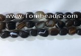 CNG8280 15.5 inches 13*18mm nuggets striped agate beads wholesale