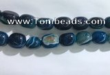 CNG8317 15.5 inches 15*20mm nuggets striped agate beads wholesale