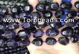 CNG8519 15.5 inches 12*16mm - 15*20mm faceted nuggets amethyst beads
