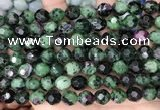 CNG8529 15.5 inches 9*10mm faceted nuggets ruby zoisite beads