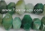 CNG853 15.5 inches 12*18mm – 13*22mm faceted nuggets agate beads