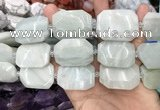 CNG8555 22*30mm - 25*35mm faceted freeform amazonite beads