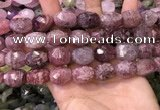 CNG8565 12*16mm - 15*20mm faceted nuggets strawberry quartz beads