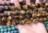 CNG8571 12*16mm - 15*20mm faceted nuggets yellow tiger eye beads