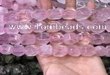 CNG8579 13*18mm - 15*20mm faceted nuggets rose quartz beads