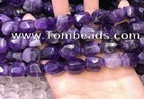 CNG8581 13*18mm - 15*20mm faceted nuggets amethyst beads