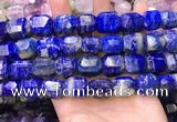 CNG8585 13*18mm - 15*20mm faceted nuggets lapis lazuli beads