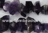 CNG859 15.5 inches 10*14mm � 12*20mm faceted nuggets amethyst beads