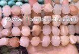 CNG8595 12*16mm - 13*18mm faceted nuggets pink aventurine beads