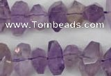 CNG860 15.5 inches 8*12mm � 12*20mm faceted nuggets amethyst beads
