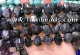 CNG8600 12*16mm - 13*18mm faceted nuggets labradorite beads