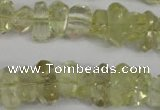 CNG864 15.5 inches 5*10mm � 10*17mm faceted nuggets lemon quartz beads
