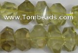 CNG865 15.5 inches 10*15mm – 12*20mm faceted nuggets lemon quartz beads