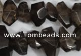CNG866 15.5 inches 8*12mm � 14*22mm faceted nuggets smoky quartz beads