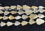 CNG8678 15.5 inches 12*14mm - 20*23mm freeform citrine beads