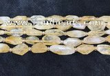 CNG8681 15.5 inches 12*23mm - 15*25mm faceted freeform citrine beads