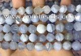 CNG8707 15.5 inches 10mm faceted nuggets blue chalcedony beads