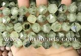 CNG8731 15.5 inches 12mm faceted nuggets prehnite gemstone beads