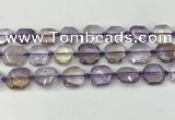 CNG8801 15.5 inches 16mm - 20mm faceted freeform ametrine beads