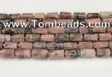 CNG8860 15.5 inches 8*12mm - 10*16mm nuggets matte rhodonite beads