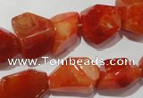 CNG900 15.5 inches 12*18mm � 18*24mm faceted nuggets red agate beads