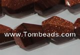 CNG906 15.5 inches 13*18mm � 15*22mm faceted nuggets goldstone beads