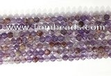 CNG9061 15.5 inches 6mm faceted nuggets purple phantom quartz beads