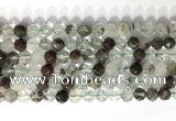 CNG9074 15.5 inches 8mm faceted nuggets ghost crystal  gemstone beads