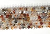 CNG9077 15.5 inches 6mm faceted nuggets agate gemstone beads
