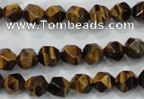 CNG936 15 inches 8mm faceted nuggets yellow tiger eye beads