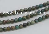 CNI01 16 inches 4mm round natural imperial jasper beads wholesale