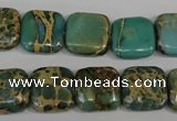 CNI25 15.5 inches 14*14mm square natural imperial jasper beads