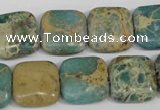 CNI26 15.5 inches 16*16mm square natural imperial jasper beads