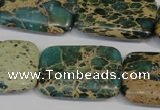 CNI28 15.5 inches 20*30mm rectangle natural imperial jasper beads