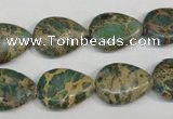 CNI29 15.5 inches 13*18mm flat teardrop natural imperial jasper beads