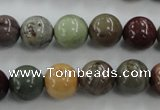 CNI304 15.5 inches 12mm round imperial jasper beads wholesale