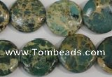 CNI31 15.5 inches 20mm flat round natural imperial jasper beads