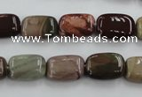 CNI311 15.5 inches 8*14mm rectangle imperial jasper beads wholesale
